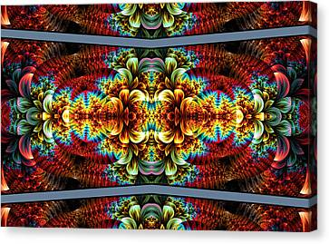 Canvas Print featuring the digital art The Illusion Of Depth by Lea Wiggins