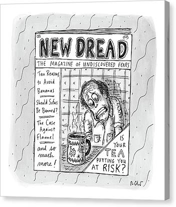 Dread Canvas Print - The Image Is The Front Cover Of New Dread: by Roz Chast