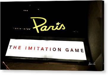 The Imitation Game At The Paris - Manhattan Canvas Print by Madeline Ellis