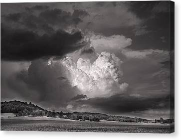 Barn Storm Canvas Print - The Impending Storm by William Fields