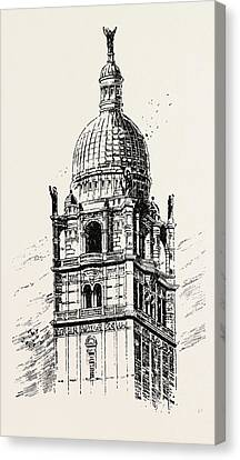 The Imperial Institute, London, Cupola Of Central Tower Canvas Print by English School
