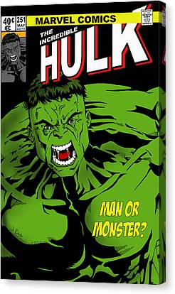 The Incredible Hulk Canvas Print by Mark Rogan