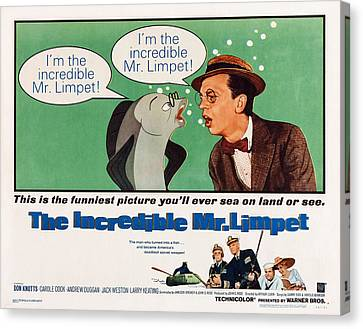 Don Knotts Canvas Print - The Incredible Mr. Limpet, Us by Everett