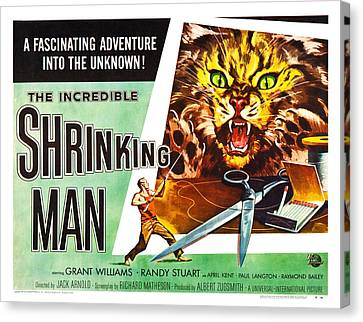 The Incredible Shrinking Man Poster Canvas Print by Gianfranco Weiss