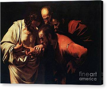The Incredulity Of Saint Thomas Canvas Print by Pg Reproductions