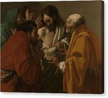 The Incredulity Of Thomas, Hendrick Ter Brugghen Canvas Print