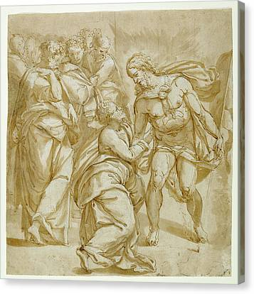 The Incredulity Of Thomas Recto,  Study For The Figure Canvas Print