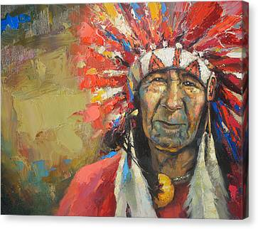The Indian Chief Canvas Print by Dmitry Spiros