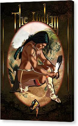 The Indian Canvas Print by Graphicsite Luzern