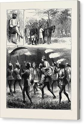 1876 Canvas Print - The Indian Tour Of H.r.h. The Prince Of Wales Reminiscences by Indian School
