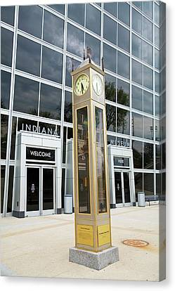 The Indiana Steam Clock Canvas Print by Jim West