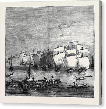 The Indo-chinese Opium Trade Opium Fleet Descending Canvas Print