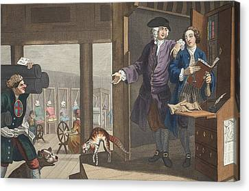 The Industrious Prentice A Favourite Canvas Print by William Hogarth