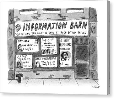 The Information Barn  Everything You Wanted Canvas Print