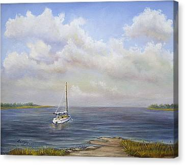 The Inlet Canvas Print by  Luczay