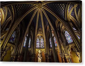 the inner beauty of Sainte Chapelle Canvas Print by Sven Brogren