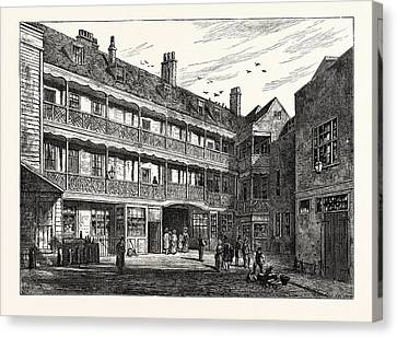 The Inner Court Of The Old Belle Sauvage London Canvas Print