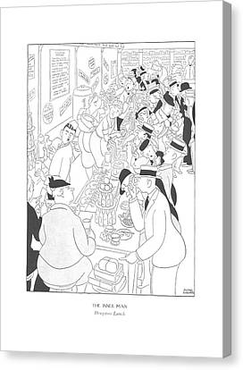 Drugstore Canvas Print - The Inner Man  Drugstore Lunch by Gluyas Williams
