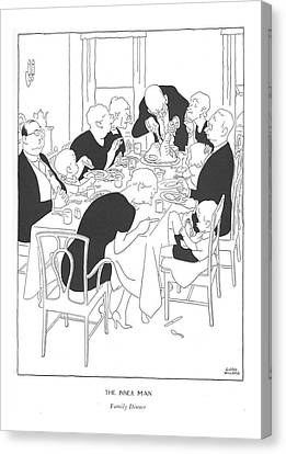 The Inner Man  Family Dinner Canvas Print by Gluyas Williams