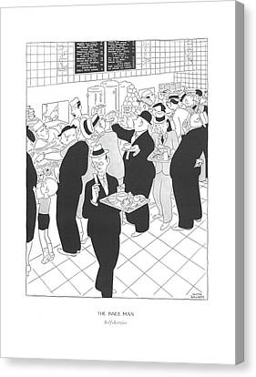 The Inner Man  Self-service Canvas Print by Gluyas Williams