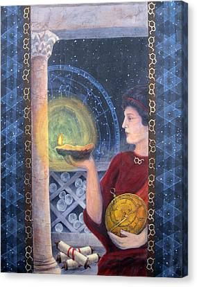 The Innovator Of Stars - Artwork For The Science Tarot Canvas Print