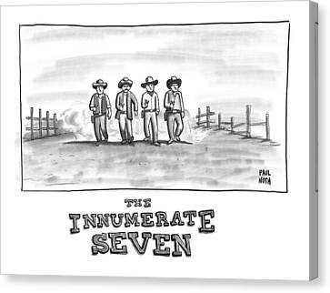 The Innumerate Seven Canvas Print by Paul Noth