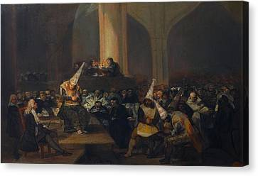 The Inquisition Tribunal Canvas Print by Francisco Goya