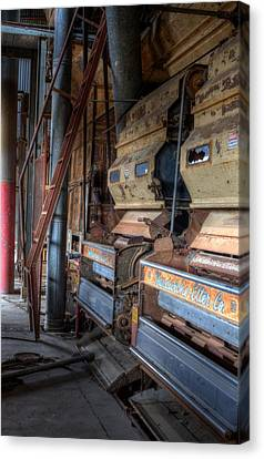 The Inside Of A Cotton Gin Canvas Print by JC Findley