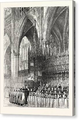 The Installation By The Dean And Chapter In York Minster Canvas Print