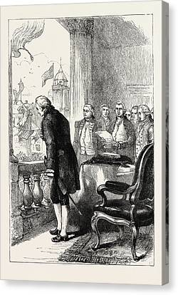 The Installation Of George Washington, United States Canvas Print