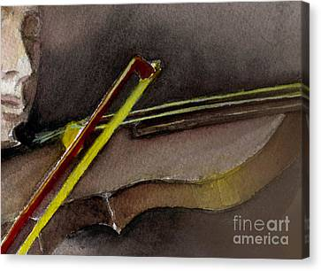 Canvas Print featuring the painting The Instrument  by Allison Ashton