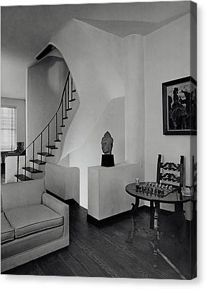 Man Ray Canvas Print - The Interior Of A Manhattan House by Tom Leonard