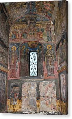The Interior Of The Orthodox Princely Canvas Print by Martin Zwick