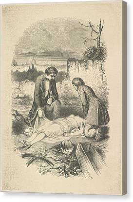 The Interment Canvas Print by British Library