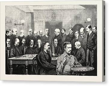 The International Chess Congress Some Of The Chief Members Canvas Print by English School