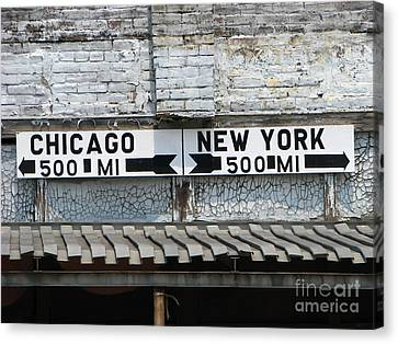 The Intersection II Canvas Print by Michael Krek