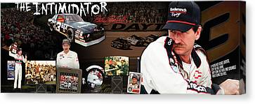 The Intimidator Dale Earnhardt Panoramic Canvas Print by Retro Images Archive