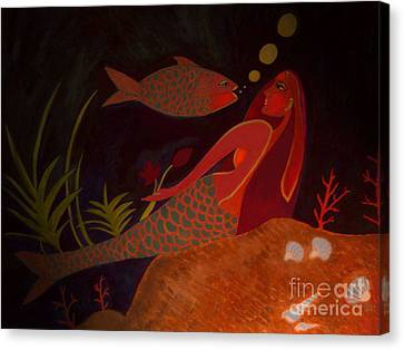 Canvas Print featuring the digital art The Intruder by Latha Gokuldas Panicker