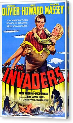 The Invaders Aka 49th Parallel, Us Canvas Print by Everett