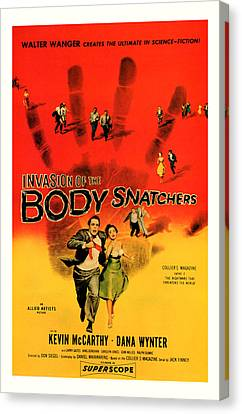 The Invasion Of The Body Snatchers 1956 Canvas Print by Presented By American Classic Art