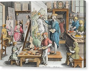 Apprentice Canvas Print - The Invention Of Oil Paint, Plate 15 by Jan van der Straet