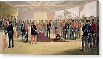 The Investiture Of The Order Canvas Print by William 'Crimea' Simpson