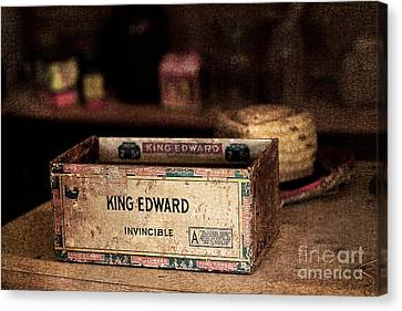 The Invincible King Edward Cigar Canvas Print by T Lowry Wilson