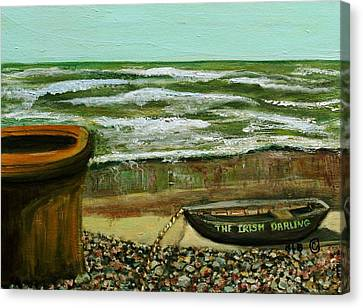 Canvas Print featuring the painting The Irish Darling by Rita Brown
