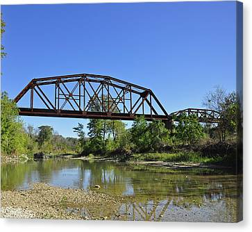 The Iron Bridge Canvas Print by Cherie Haines