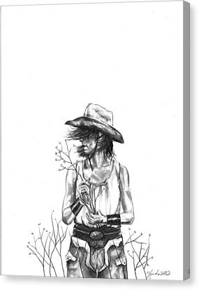 The Iron Cowgirl Canvas Print