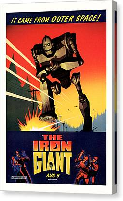The Iron Giant 1999 Canvas Print by Presented By American Classic Art