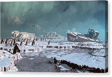 The Iron Whale Canvas Print by Dieter Carlton
