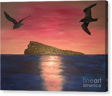 The Island Canvas Print by Jeepee Aero