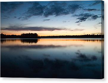 The Islands At Dusk On Black Lake Near Perth Ontario Canvas Print by Rob Huntley